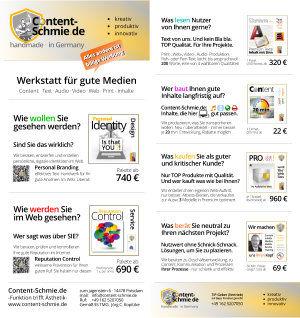 Flyer CS Aktion Content, Reputation, Carbon
