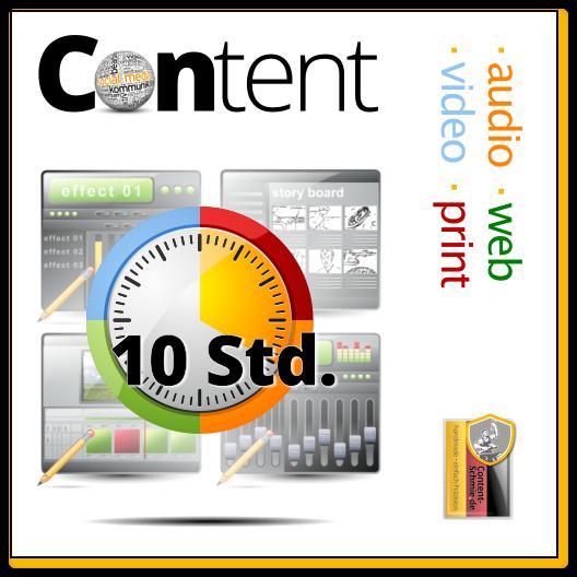 Content: Audio, Video, Web, Print und Text - mit Inspiration. Einheit: 10 Std.