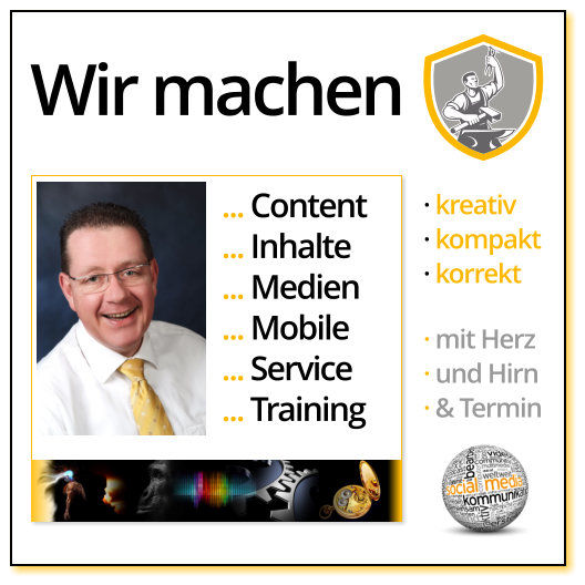 Content: Audio, Video, Web, Print und Text - mit Illumination. Es zündet an.