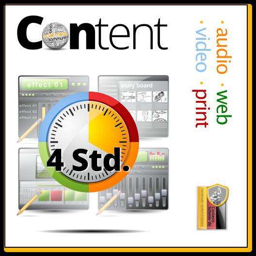 Content: Audio, Video, Web, Print und Text - mit Inspiration. Einheit: 4 Std.