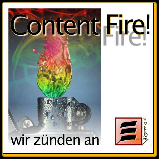 Content: Audio, Video, Web, Print und Text - mit Illumination. Es zündet an.